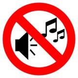 Nenhum sinal da música ilustração do vetor