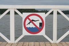 Nenhum sinal da natação Foto de Stock Royalty Free