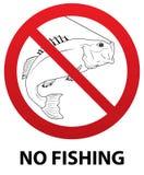 Nenhum sinal da pesca Fotos de Stock