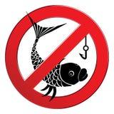 Nenhum sinal da pesca Imagens de Stock