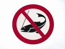 Nenhum sinal da pesca Fotos de Stock Royalty Free