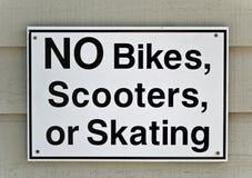 Nenhum sinal das bicicletas Fotografia de Stock