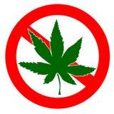 Nenhum sinal das drogas Imagens de Stock
