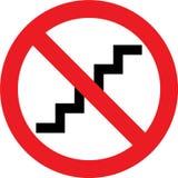 Nenhum sinal das escadas Foto de Stock Royalty Free