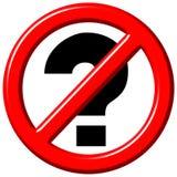 Nenhum sinal das perguntas 3d ilustração royalty free