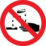 Nenhum sinal das substâncias corrosivas ilustração royalty free
