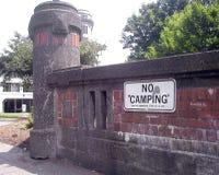 Nenhum sinal de acampamento imagem de stock royalty free