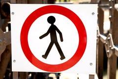 Nenhum sinal de passeio Fotografia de Stock Royalty Free