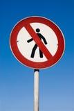 Nenhum sinal de passeio Imagens de Stock Royalty Free