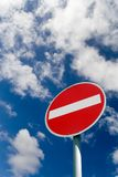 Nenhum sinal de tráfego da entrada Fotos de Stock