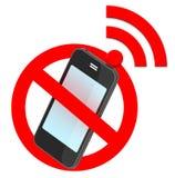 Nenhum sinal de tráfego do smartphone Imagem de Stock