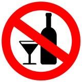 Nenhum sinal do álcool Fotografia de Stock Royalty Free