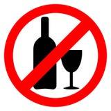 Nenhum sinal do álcool Imagem de Stock