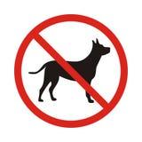 Nenhum sinal do cão, Imagens de Stock Royalty Free