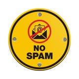 Nenhum sinal do círculo do Spam Fotos de Stock Royalty Free