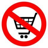 Nenhum sinal do carrinho de compras ilustração royalty free