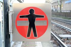 Nenhum sinal do cruzamento, Alemanha Imagens de Stock Royalty Free