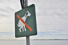 Nenhum sinal do dogpoo ilustração stock