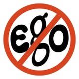 Nenhum sinal do ego Fotos de Stock