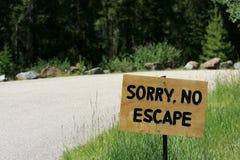 Nenhum sinal do escape Foto de Stock
