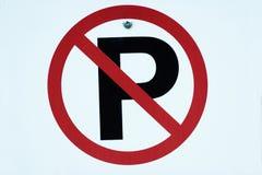 Nenhum sinal do estacionamento Fotos de Stock Royalty Free