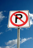 Nenhum sinal do estacionamento Foto de Stock