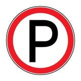 Nenhum sinal do estacionamento ilustração do vetor