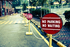 Nenhum sinal do estacionamento Foto de Stock Royalty Free