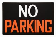 Nenhum sinal do estacionamento. Imagens de Stock Royalty Free