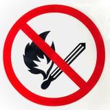 Nenhum sinal do fogo Fotografia de Stock Royalty Free