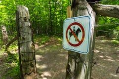 Nenhum sinal do Horseback Imagem de Stock