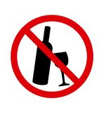 Nenhum sinal do ?lcool da bebida Vetor ilustração stock