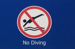 Nenhum sinal do mergulho imagens de stock