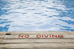 Nenhum sinal do mergulho Imagens de Stock Royalty Free