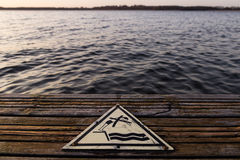 Nenhum sinal do mergulho Fotografia de Stock Royalty Free