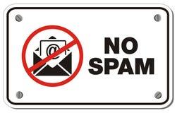 Nenhum sinal do retângulo do Spam Fotografia de Stock Royalty Free