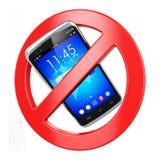 Nenhum sinal do telefone móvel Fotografia de Stock