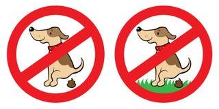 Nenhum sinal do tombadilho do cão Fotos de Stock Royalty Free