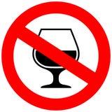 Nenhum sinal do vetor do álcool Foto de Stock