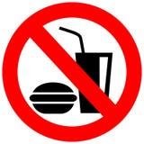 Nenhum sinal do vetor comer ilustração stock