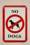 Nenhum sinal dos cães Fotografia de Stock Royalty Free