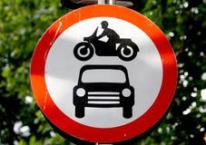 Nenhum sinal dos veículos motorizados Imagens de Stock