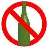 Nenhum sinal permitido álcool Imagens de Stock