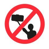 Nenhum sinal permitido selfie Foto de Stock Royalty Free
