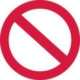 Nenhum sinal proibido ilustração stock