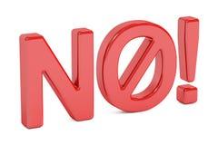 Nenhum sinal proibido, rendição 3D Fotografia de Stock