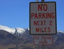 Nenhum sinal Utá do estacionamento Fotografia de Stock Royalty Free