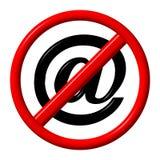 Nenhum Spam Imagem de Stock