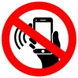 Nenhum telefone usando o sinal do vetor ilustração royalty free