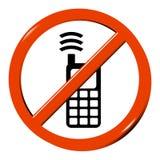 Nenhum telemóvel Imagem de Stock